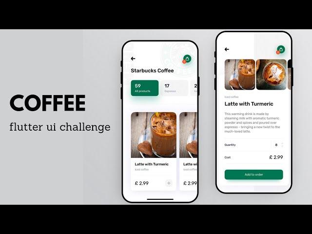 FlutterUI - Minimal Designs - Starbucks
