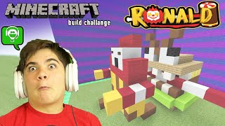 BUILD RONALD in MINECRAFT challenge with HobbyGaming