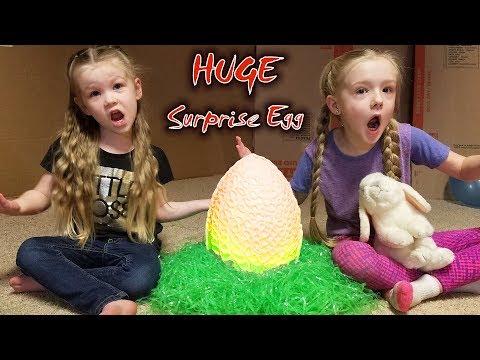 Easter Egg Hunt in HUGE Box Fort Maze! We Find a GIANT Chocolate Surprise Egg!!!