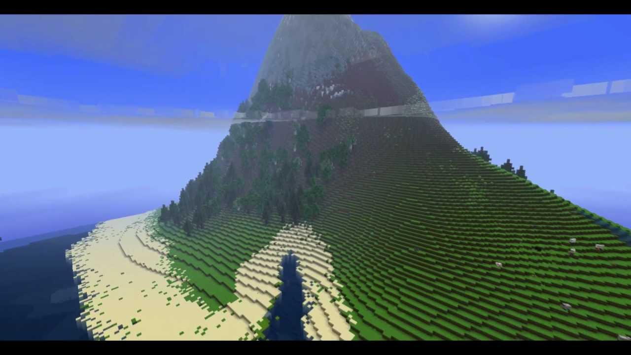 Minecraft Cinematic The Snow Capped Mountain Youtube