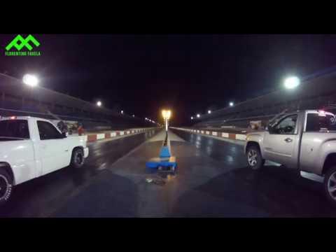 Cheyenne SS Nitro Vs GMC Sierra Supercharger drag race  Autódromo Culiacán