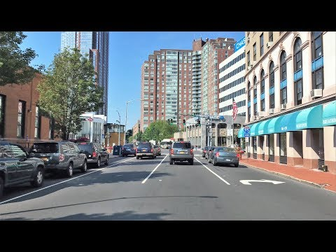 Driving Downtown - New Rochelle New York USA