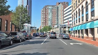 Driving Downtown - New Rochelle 4K - New York USA