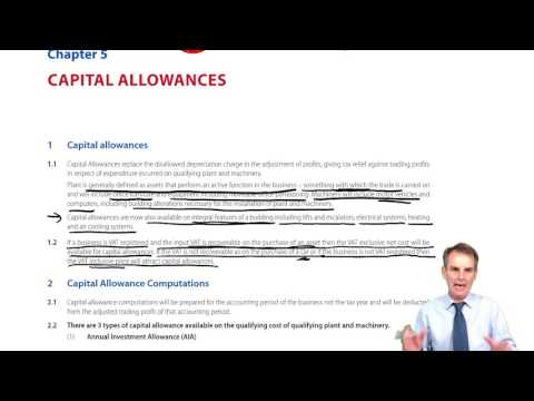 ACCA F6 Capital Allowances Introduction