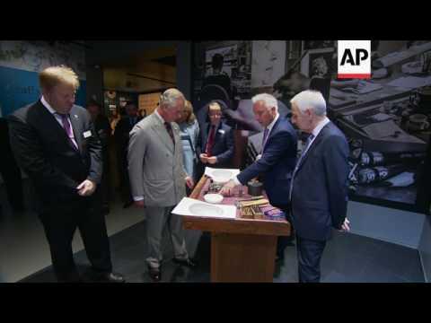Prince Charles visits UK Royal mint