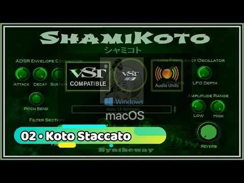 Virtual Koto & Shamisen VST VST3 Audio Unit Plugins and EXS24 + KONTAKT by  ShamiKoto シャミコト 箏と三味線