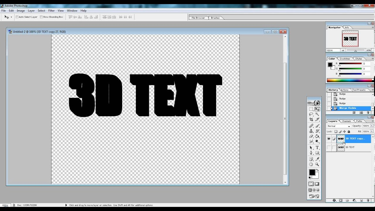 how to add text background photoshop