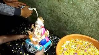 Eco friendly ganpati visarjan