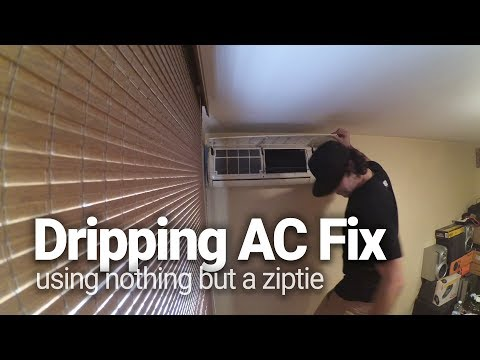 Fixing AC Water Dripping