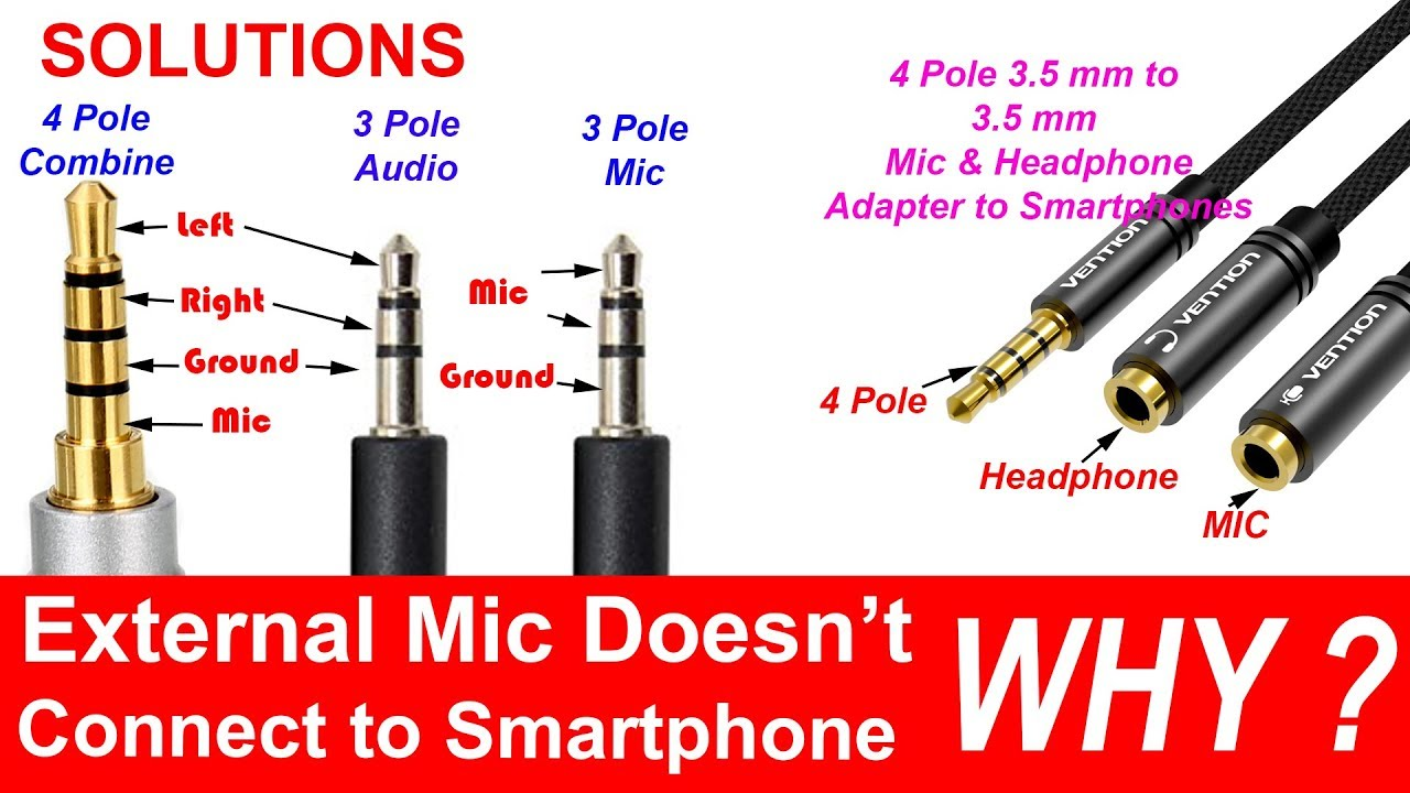 4-pole 3.5 mm to Headphone and Microphone Separator/Converter/Adapter -  YouTubeYouTube