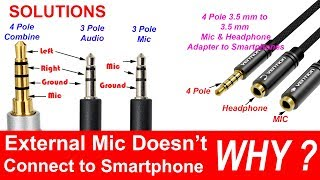 4-pole 3.5 mm to Headphone and Microphone Separator/Converter/Adapter