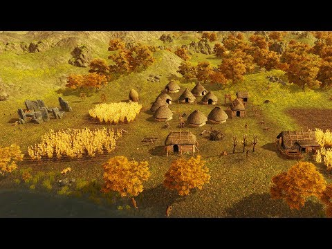 NEW - Building Ancient Sun Temple Monument | Dawn of Man Ep. 01 Gameplay Prehistoric City Building