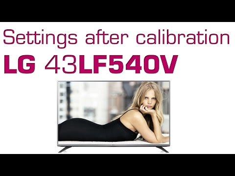 LG LF540V LF5400 settings after calibration