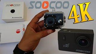 ارخص كاميرا 4k رياضية وضد الماء Review SOOCOO C30 Camera 4k
