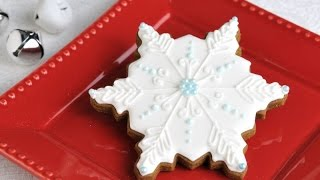 Snowflake Cookies Decorated With Royal Icing, Haniela's