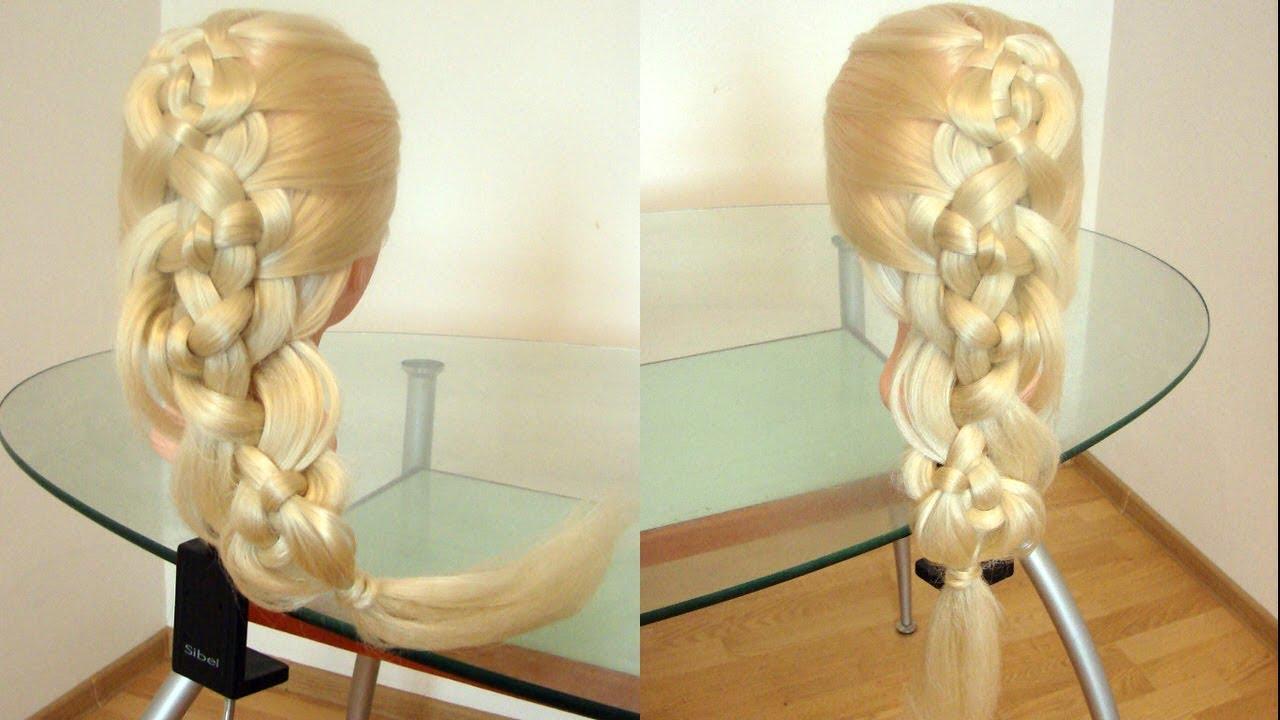 Коса из узлов Элегантная причёска Курс плетения кос Hair tutorial