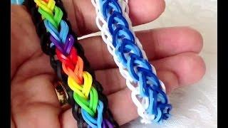 Браслет Капельки,  Радужки Rainbow Loom