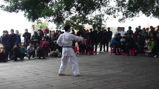 Nakamura Sensei performs Seisan kata in Shaolin Temple