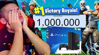 1 MILLION SUBSCRIBERS!! THANK YOU SO MUCH! (HUGE GIVEAWAY + EMOTIONAL SPEECH) FORTNITE FUNNY MOMENTS
