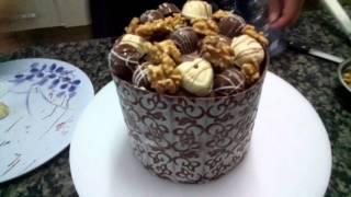 Panetone com textura de chocolate