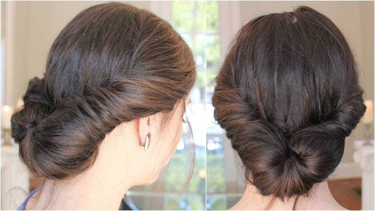 Easy Loose Romantic Updo Hairstyle Youtube