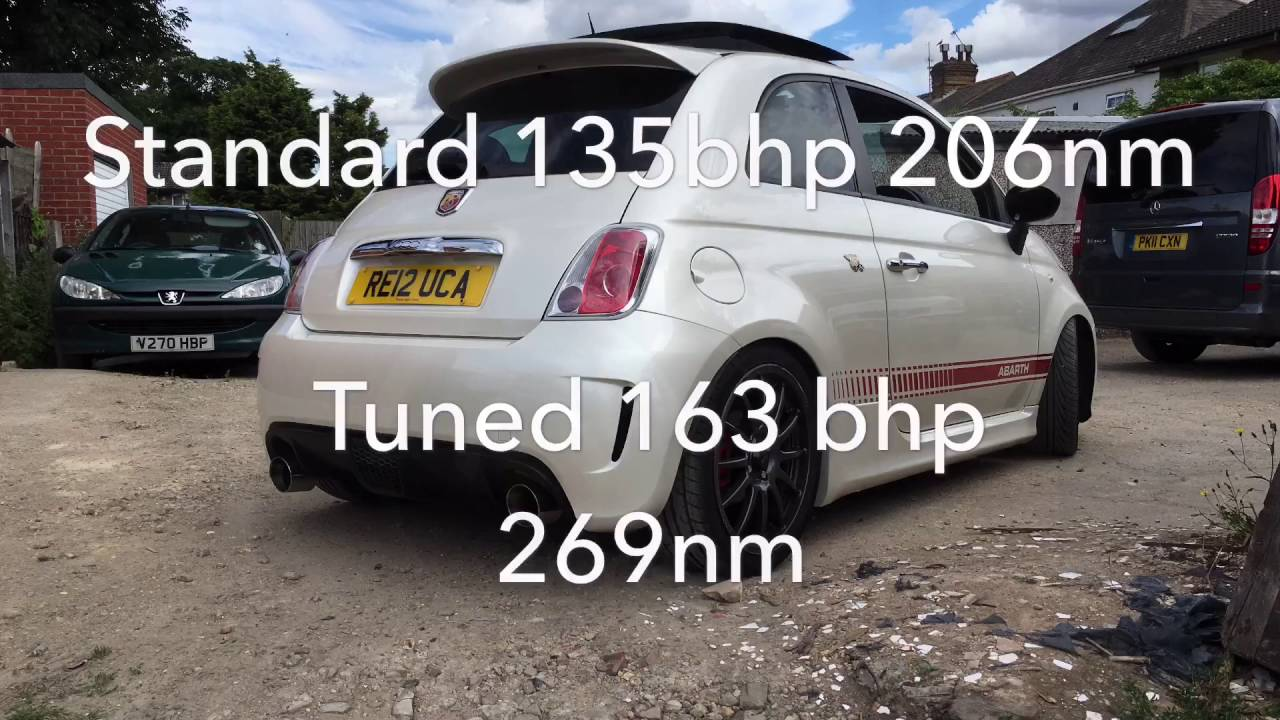 Fiat 500 Abarth remapped to 163BHP Road Rage Performance - YouTube