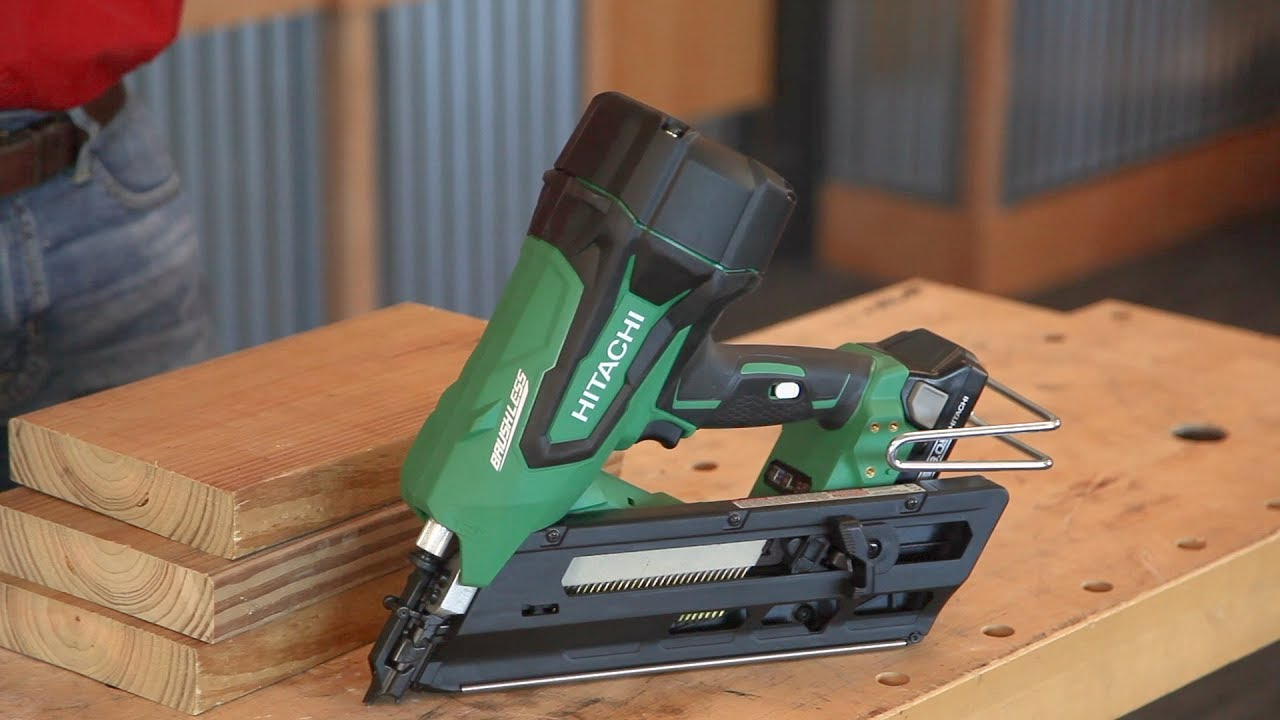 What\'s In The Box: Hitachi Cordless Brushless Framing Nailer - YouTube