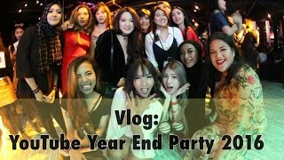 Vlog : YouTube Year End Party 2016 | Diendiana