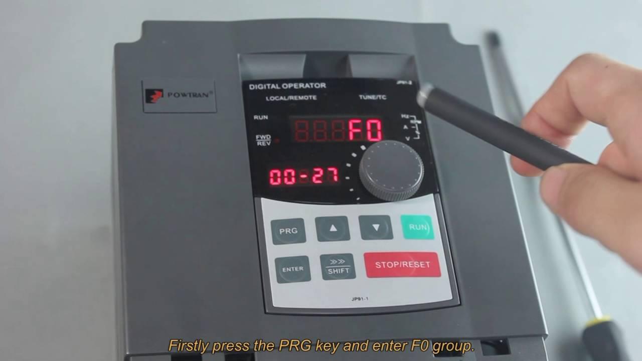 VFD PI160 OR7G1 Powtran variable speed AC drive