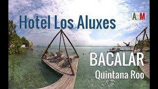 Hotel Los Aluxes en Bacalar con sus famosos solares y columpios | Quintana Roo