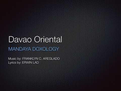 DAVAO ORIENTAL MANDAYA DOXOLOGY (minus 1)