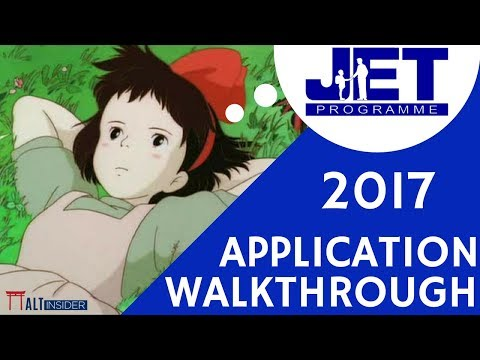 JET Program Application Walk Through 2017
