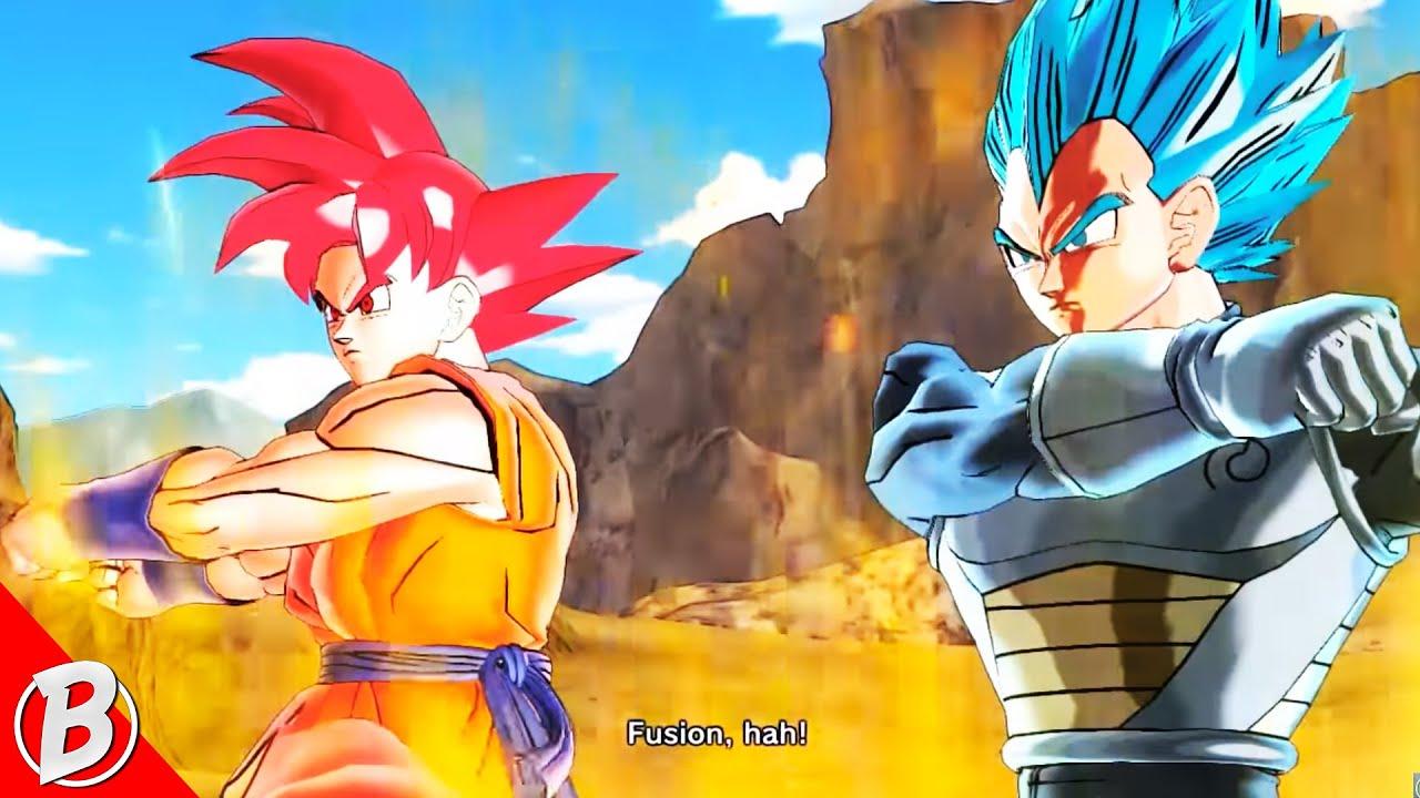 Super Saiyan God Goku Super Saiyan Blue Vegeta Fusion