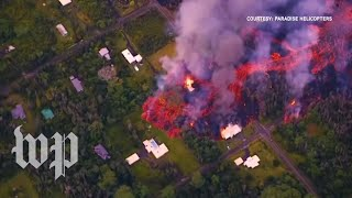 Soaring above Hawaii's ongoing volcanic eruptions