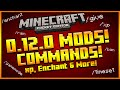 ★MINECRAFT POCKET EDITION 0.12.0 - NEW SINGLE-PLAYER COMMANDS MOD SHOWCASE XP, ENCHANT & MORE!★
