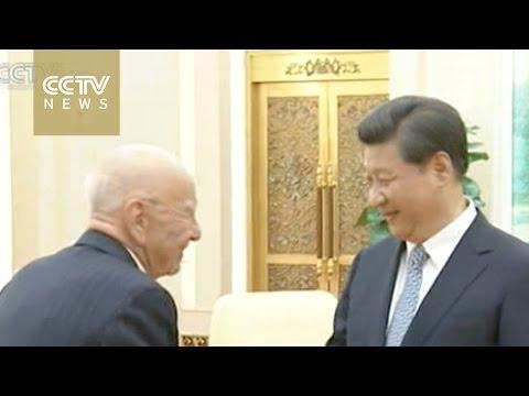 Chinese president meets Murdoch