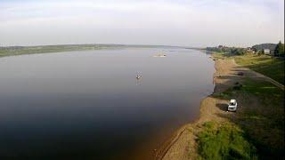 Ловля на спиннинг с берега на большой сибирской реке