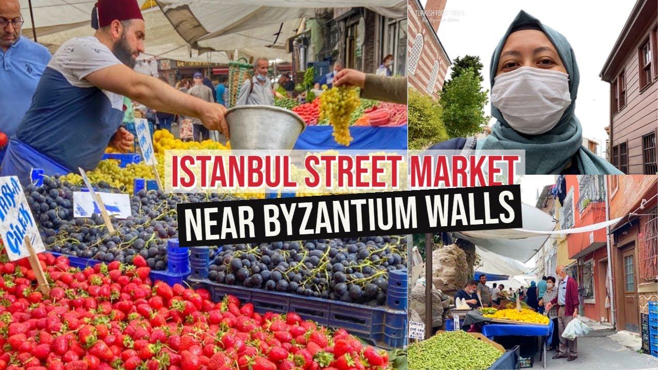 Istanbul Street Market Near Byzantium Walls - Shop With Me