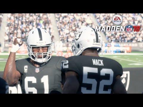 Madden 18 Oakland Raiders vs Tennessee Titans Gameplay (Oakland Coliseum)