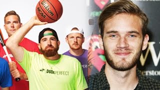 Dude Perfect YouTuber THREAT? PewDiePie & JackSepticEye UNVERIFIED!  BIG YouTuber EXPOSED in Public thumbnail
