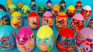 25 Kinder überraschungseier auspacken | Familie Spielzeugsammler