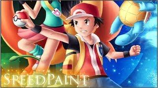 Pokemon Trainer's Return! [SPEEDPAINT] (Super Smash Bros. Ultimate)