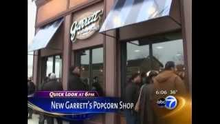 ABC 7 Covers the Opening of Molise PR Client Garrett Popcorn Shops at 87th and Cottage Grove