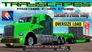 KW T-800 HEAVY HAUL COMBO AND NEW Detroit 60 Series SOUNDS. American Truck Simulator