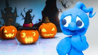 CLAY MIXER SPOOKY HALLOWEEN PARTY 💖 Play Doh Cartoons For Kids