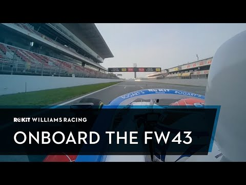 The First Laps! Jump Onboard The FW43!