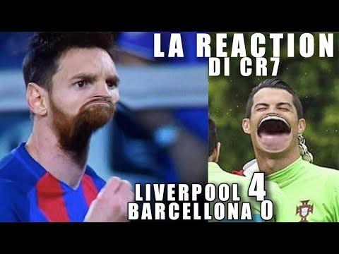 CR7 E IL FIGLIO COMMENTANO LIV-BAR 4-0   LA RIVINCITA DI RONALDO  