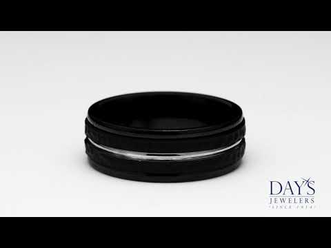 Benchmark Mens Wedding Band in Black Cobalt (8MM)