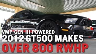vmp performance stock 2012 shelby gt500 blasts out 800 hp with vmp gen3 tvs blower