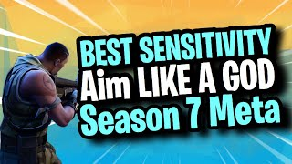 *NEW* BEST FORTNITE CONSOLE SENSITIVITY-BEST SENSITIVITY FOR CONTROLLER/PC-AIM LIKE ME! Season 7